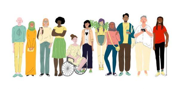 En grupp med människor